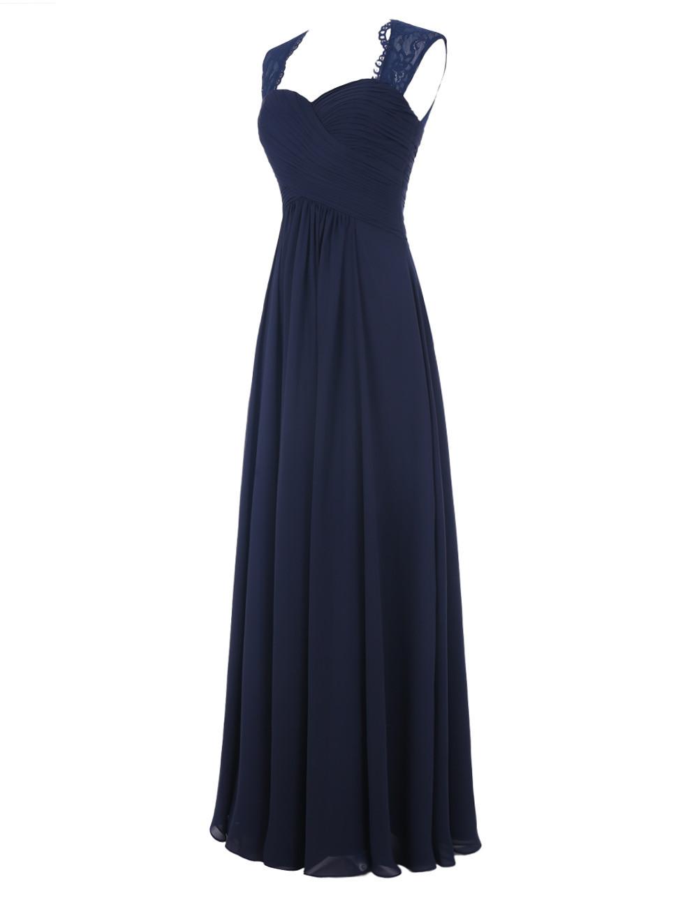 Simple A-line Sweetheart Sleeveless Chiffon Ruffles Long Navy Blue/Pink Prom Dress фото