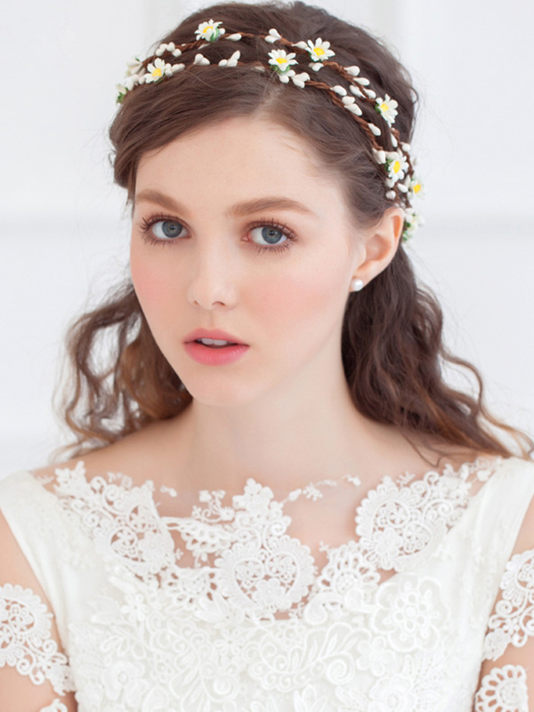 Lovely Headbands with Artificial Flower фото