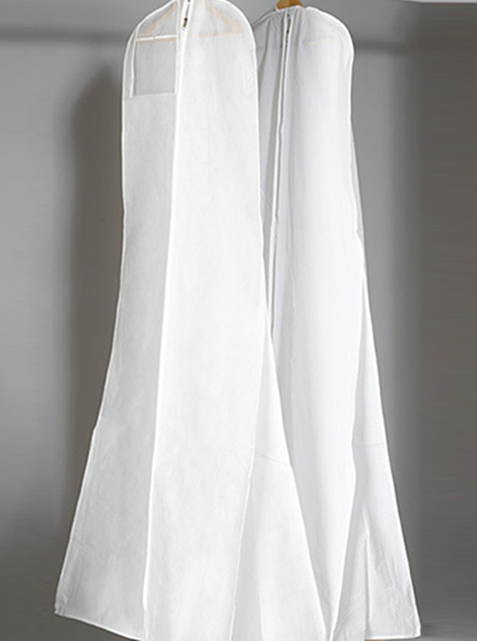 Wedding Dresses Length Garment Bags, White