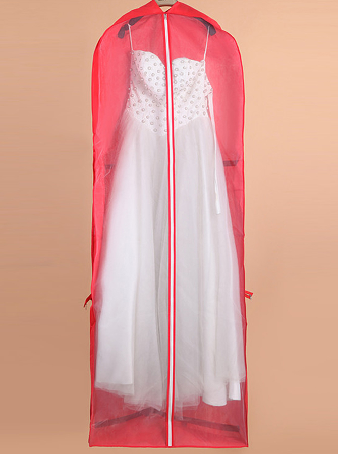 Red Nonwoven Dress Length Garment Bags фото