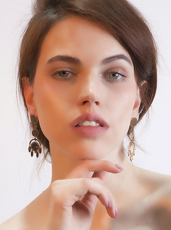 Pretty Geometric Zinc Plated Alloy Earring фото