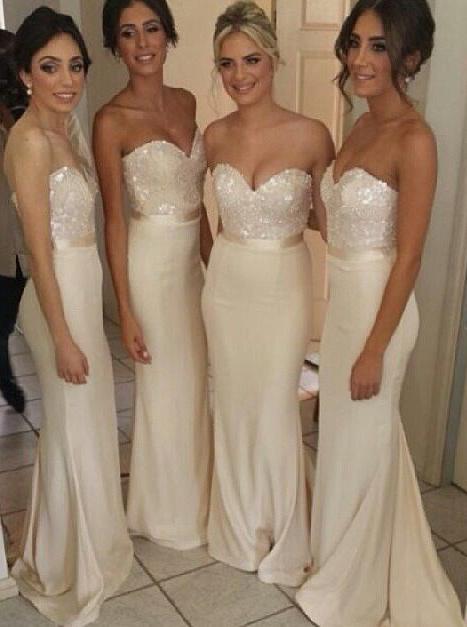 Gorgeous Mermaid Strapless Long Bridesmaid Dress/Wedding Party Dress фото