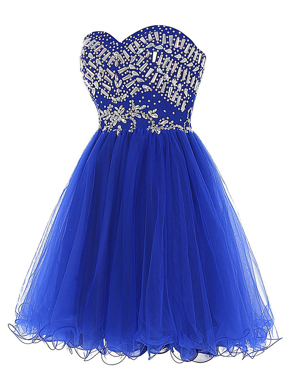 Hot-selling Sexy Sweetheart Royal Blue Homecoming Dress with Rhinestones фото