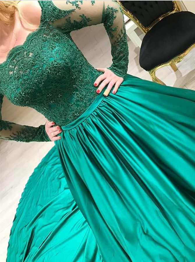 Ball Gown Off Shoulder Hunter Green Quinceanera Dress with Appliques Sleeves фото