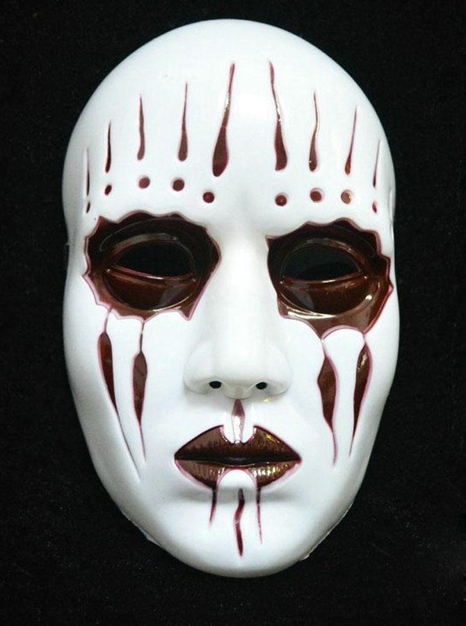 Terror Ghost Mask White Plastic Halloween Mask фото