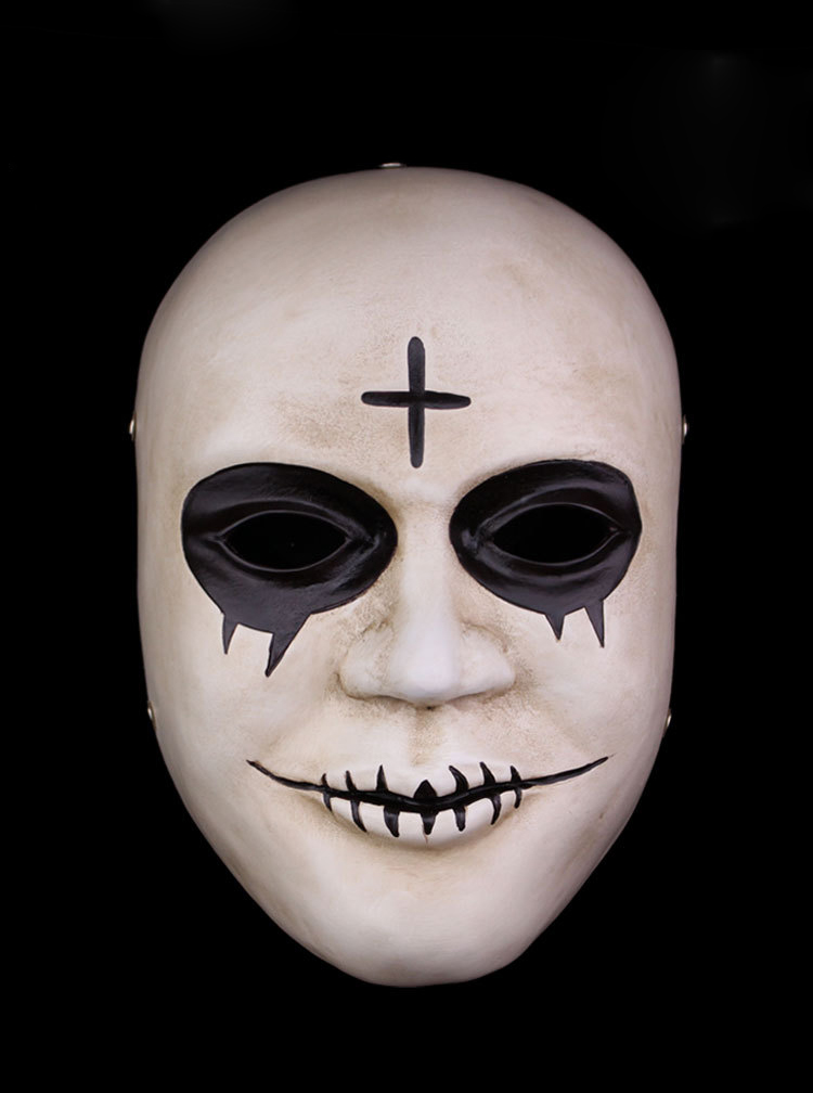 Halloween Cosplay The Purge Blood Mouth Cross Mask фото