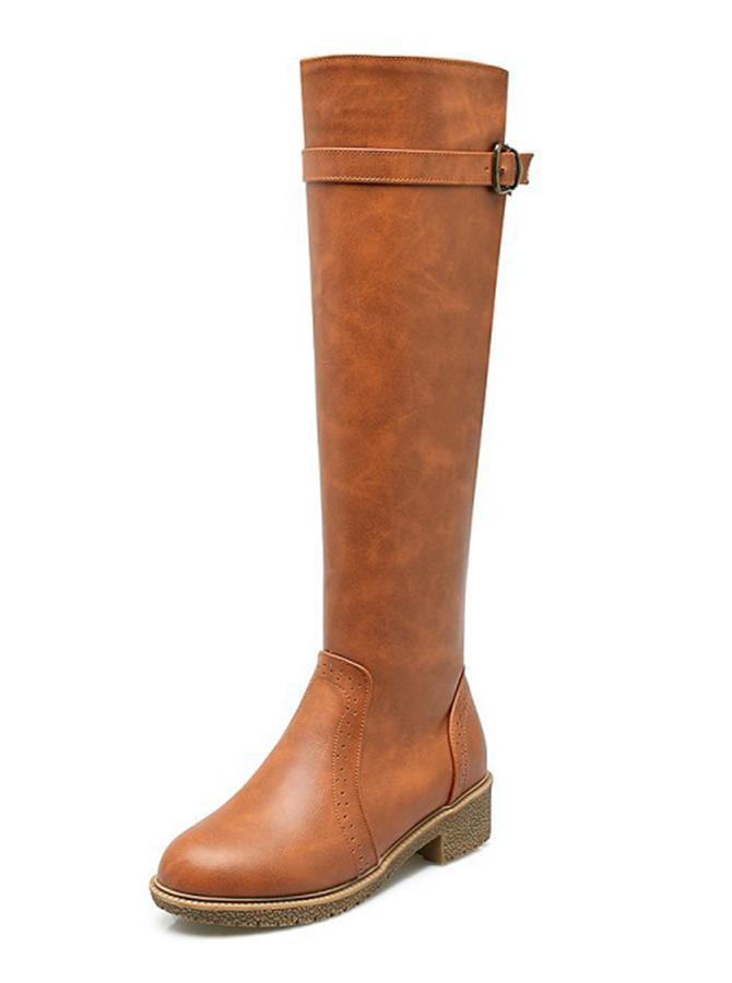 Waterproof Khaki Knee High Riding Boots фото