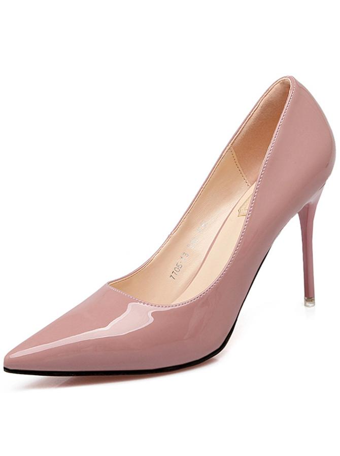 Pink Pointy Toe Stiletto Heel Pumps
