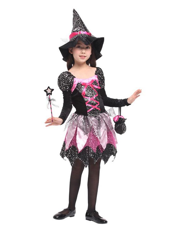 Kid Fairy Halloween Costume Sparkling Children's Performance Dress, Black