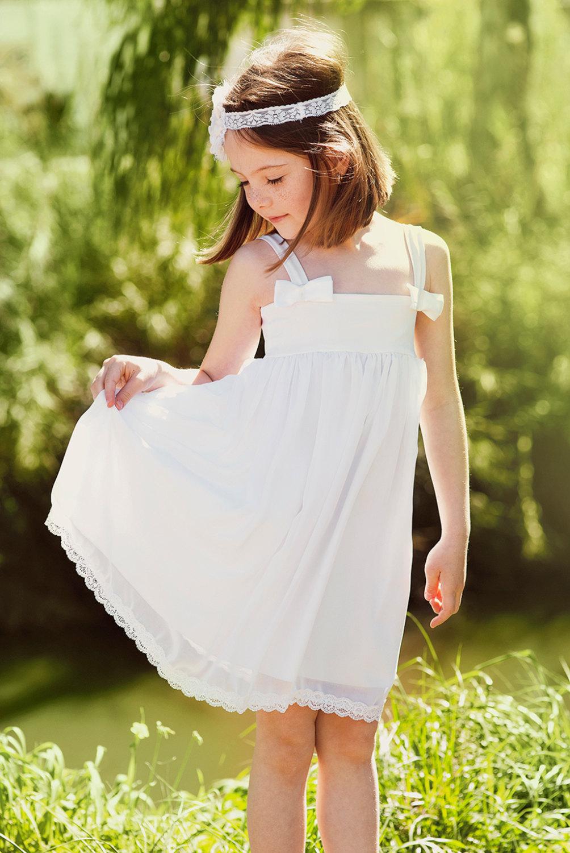 Cheap Sheath/Column Spaghetti Straps Knee-Length Chiffon Flowergirl Dresses CHFGD-60447