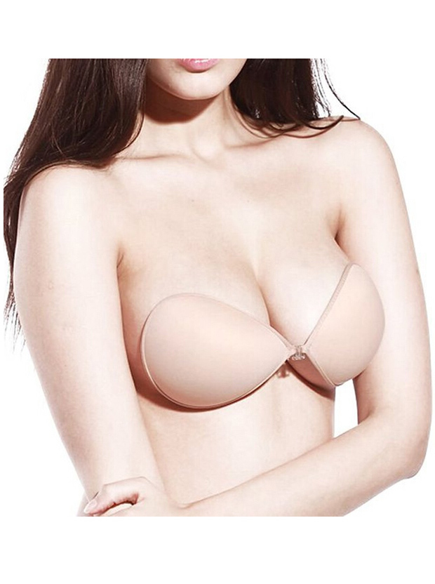 Sexy Women Ultralite Backless Strapless Silicone Push-Up Reusable Bra фото