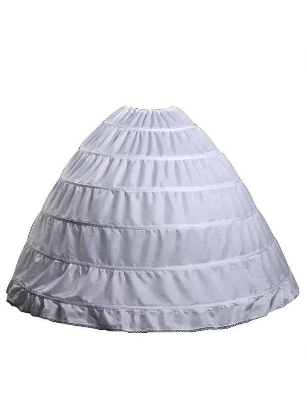Wedding Bridal Petticoat Six Hoops Larges Full White
