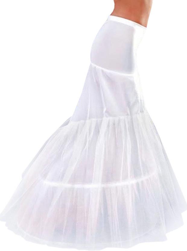 White Floor-Length Mermaid Gown Petticoat фото