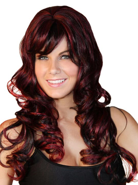 Diramon New Arrival Curly Cosplay Wigs Halloween Party, Red