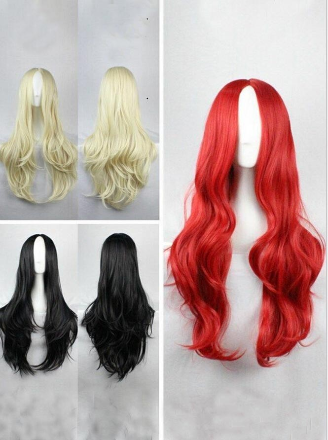 Cosplay Long Wigs Points Curly Hair Halloween Party фото