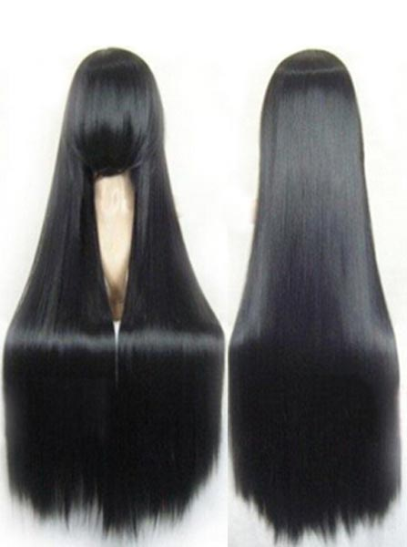 Hot-Selling Long Straight Black Cosplay Wigs фото