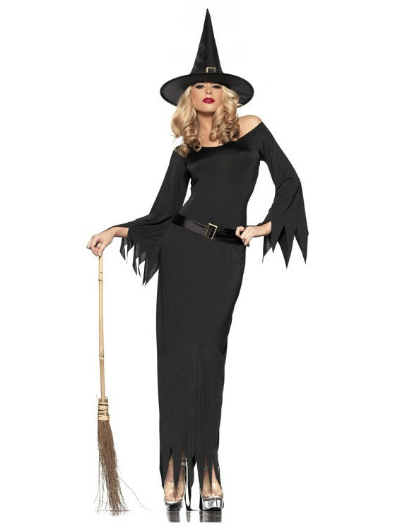 Halloween Costumes Adult Womens Sexy Witch Suit Costume, Red