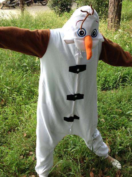 Anime Olaf snowman Costume Pajamas Cosplay White jumpsuit Adult Onesie Pyjamas фото