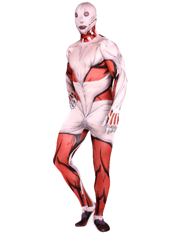 Halloween Costume Hot Anime Attack on Titan Cosplay Accessory Zentai Suit for Adults Spandex Jumpsuits фото