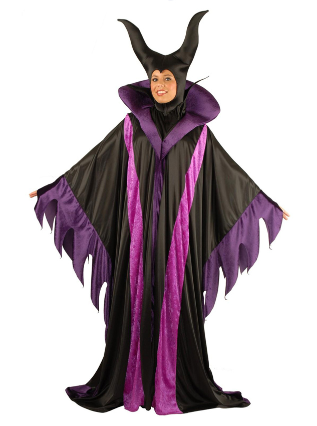 Maleficent Adult Plus Halloween Witch Costume For Women, Black