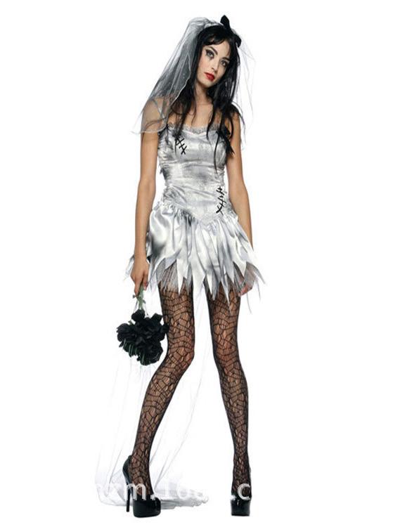 Sexy Spaghettis Short Corpae Vampire Halloween Bride Custome For Women фото