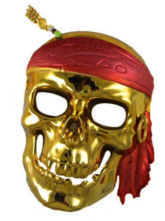 Pirates of the Caribbean Captain Jack Cosplay Gold/Silver Mask