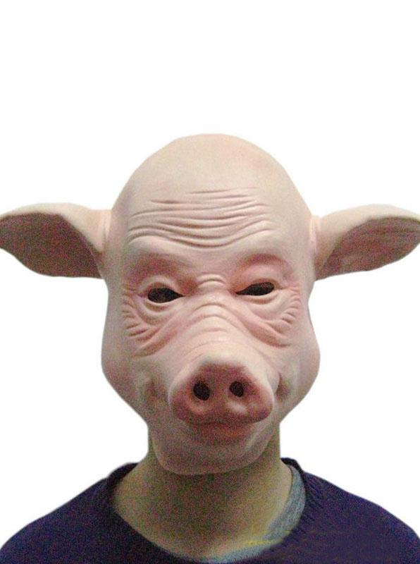 Halloween Animal Pig Full Head Mask фото