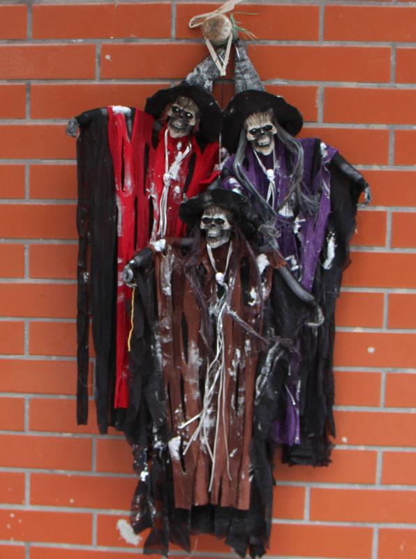 Fête d'Halloween Décoration Délicate Fournitures Effrayant Crier Accessoires de fête Pour la Maison Hantée/KTV/Bar Fantômes, Monstres Crâne Sorcière