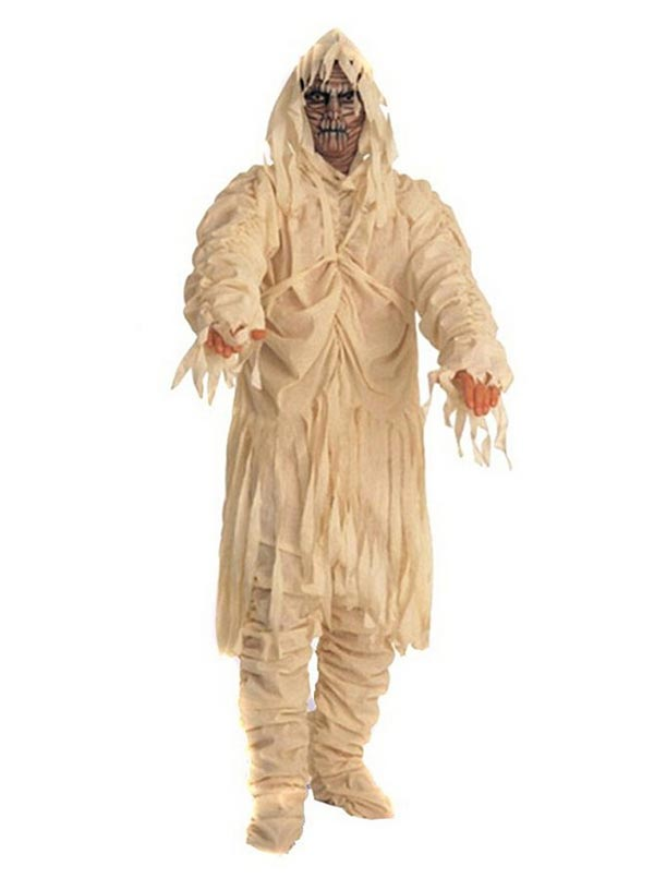 Men's Classic Monster Egyptian Mummy Zombie Curse Halloween Party Costume, Black;red