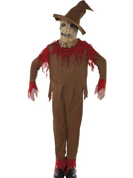 Scarecrow Costume Halloween Party, Red