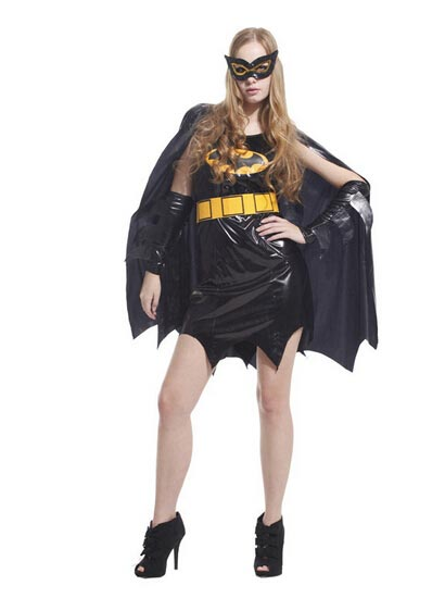 Adult Halloween Cosplay Costume Female Batman Costume Dress фото