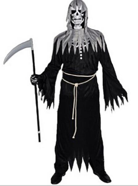 Halloween Carnival Masquerade Cosplay Fancy Dress the Angel of Death Zombie Red Devils Hell, Black
