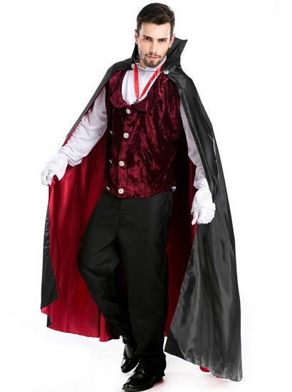 Halloween Costume Role-Playing Movie Dracula Vampire Cosplay Men, Black