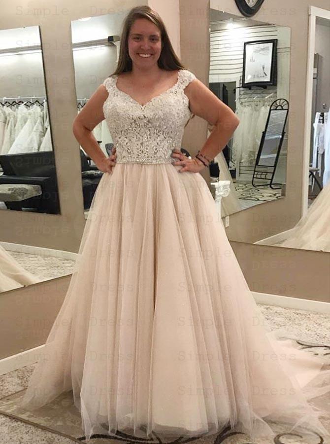 Court Train Plus Size Wedding Dress