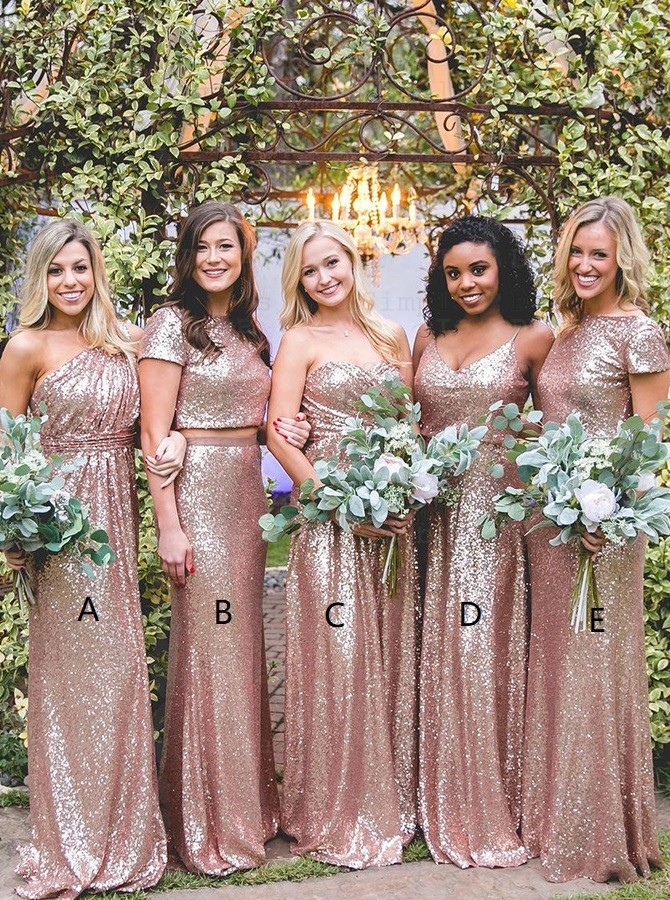 Rose Gold And Pink Bridesmaid Dresses 51 Off Plykart Com