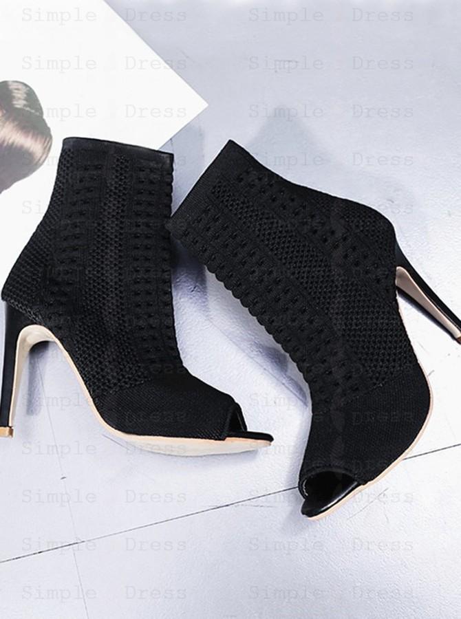 stiletto peep toe boots