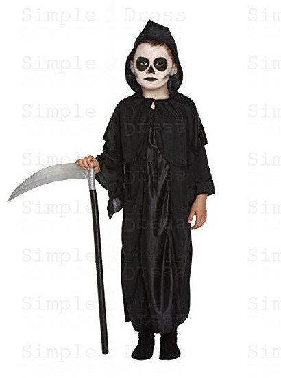 Black California Costumes Reaper Girl Child Costume