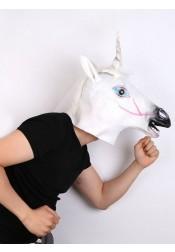 Cute Unicorn Headgear Horse Head Halloween Party Mask