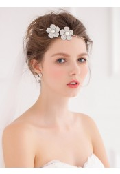 Cute Ladies Alloy Headpieces with Crystal and Imitation Pearls