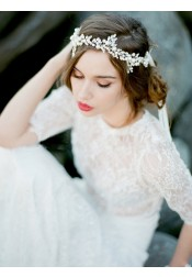 Gorgeous Ladies Headband with Rhinestone and Imitation Pearls