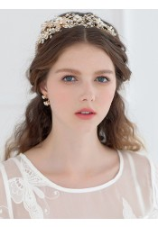 Luxury Crystal Alloy Headpiece with Imitation Pearls