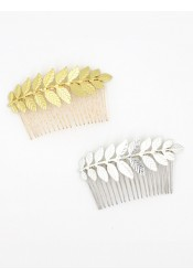 Simple Leaf Shape Alloy Combs & Barrettes