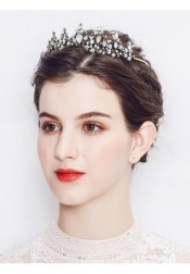 Stylish Baroque Alloy Tiara Wedding Accessory
