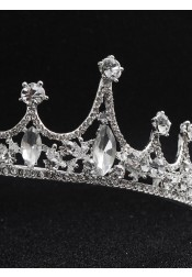 Ladies Amazing Crystal Alloy Tiara With Rhinestone