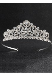Ladies Glamorous Alloy Tiara With Crystal