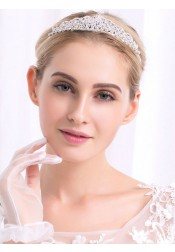 Cute Ladies Alloy Tiara With Crystal