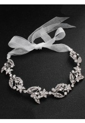 Gorgeous Silver Bridal Headbands with Crystal Wedding Accessory