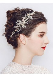 Beautiful Gold Headpieces with Crystal and Imitation Pearls