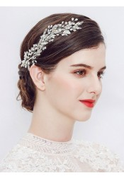 Pretty Silver Bridal Headpieces with Rhinestone and Beading