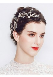Stylish Gold Bridal Headpieces with Crystal